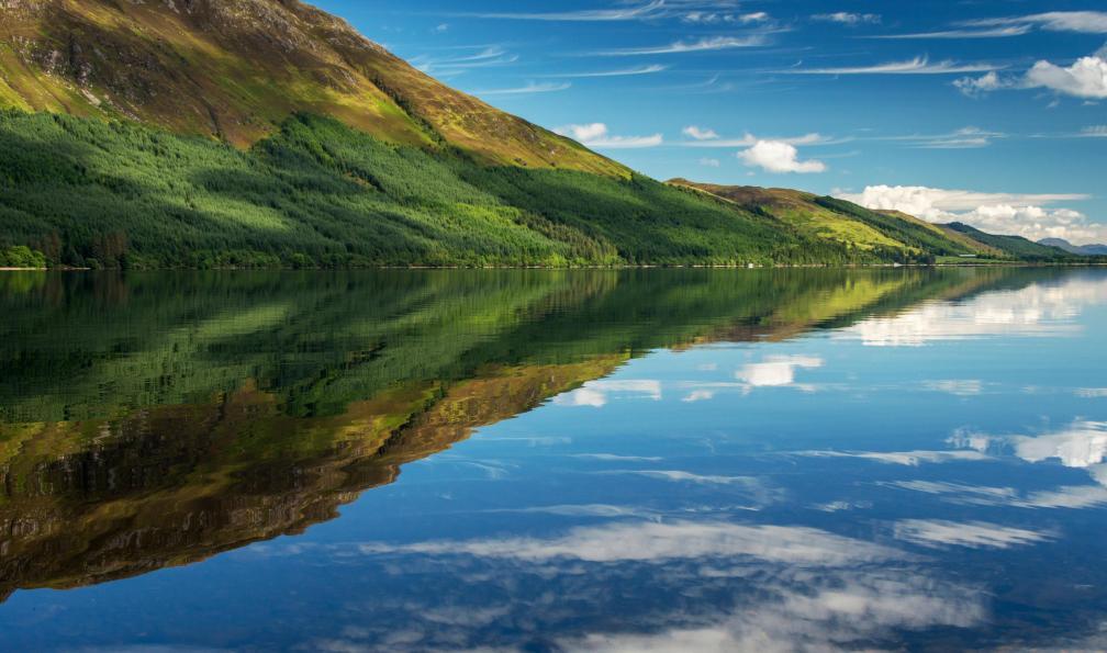 Image L'allée des lacs écossais à vélo