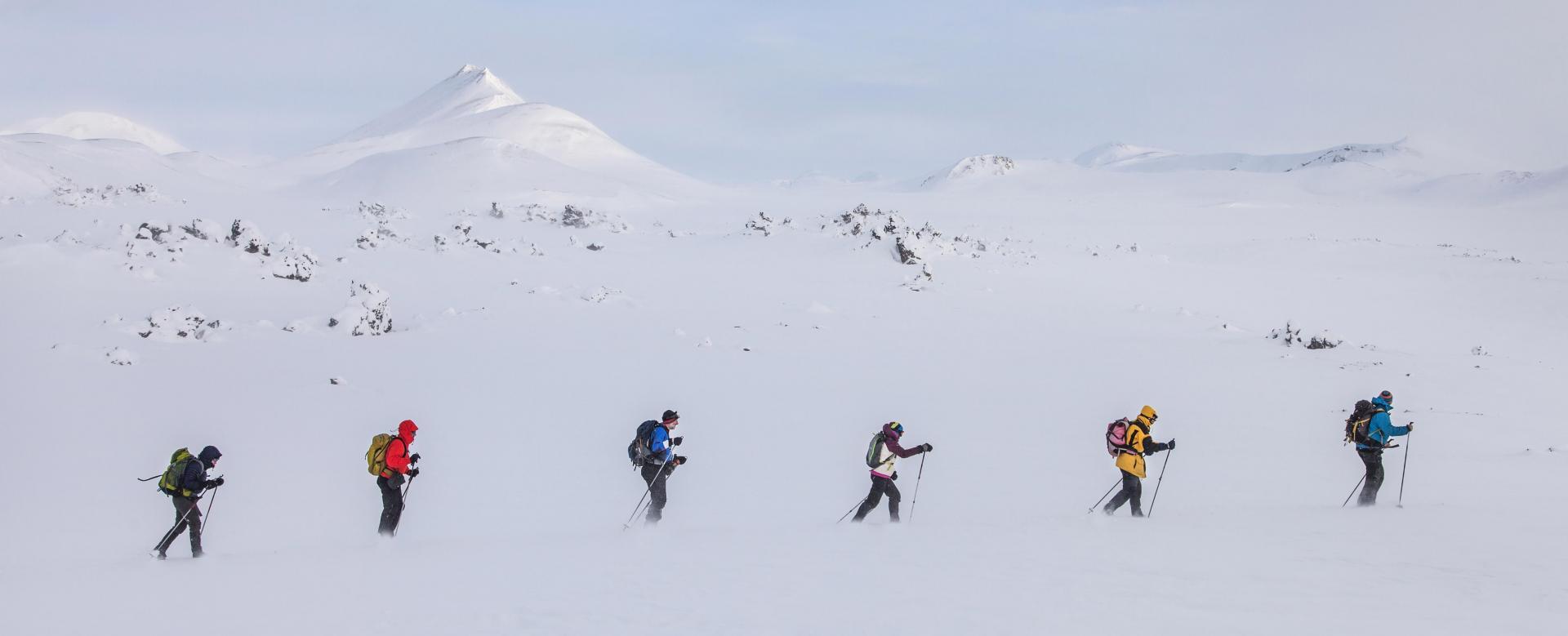 Trekking Islande : Sous la neige le feu