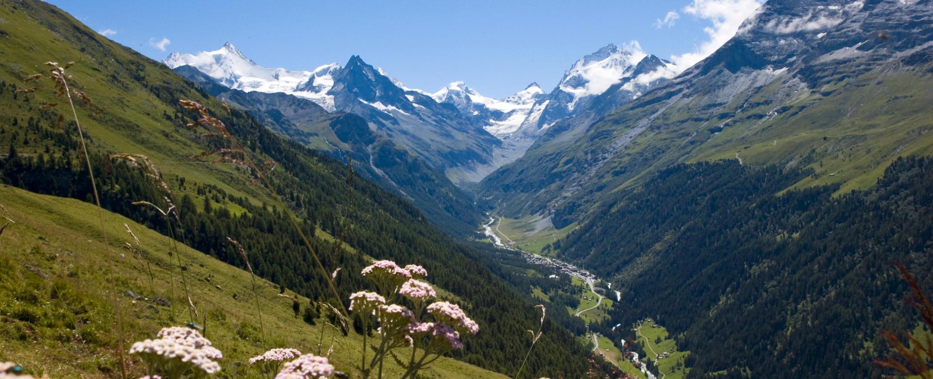 """Voyage à pied Suisse : Au pied des """"4000"""" du valais"""