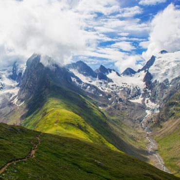 Lacs, glaciers et sommets du Tyrol