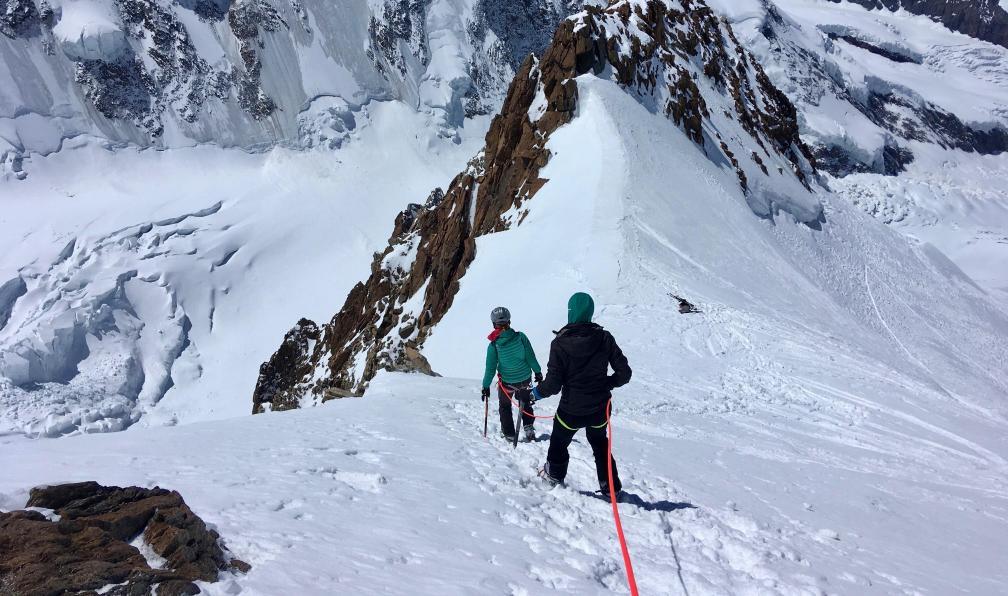 Image L'ascension du mont rose à skis
