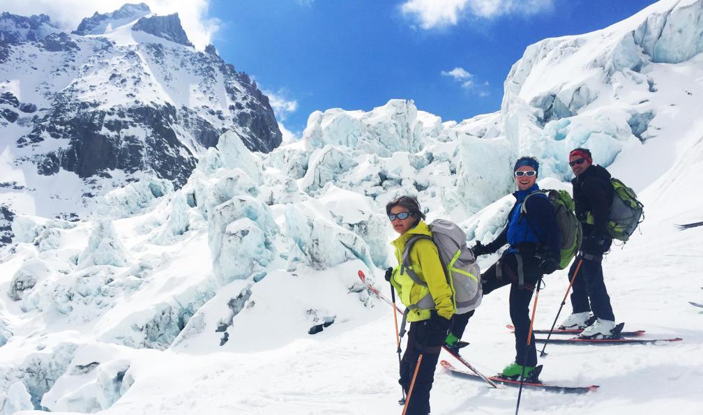 Image Freerando dans le massif du mont-blanc