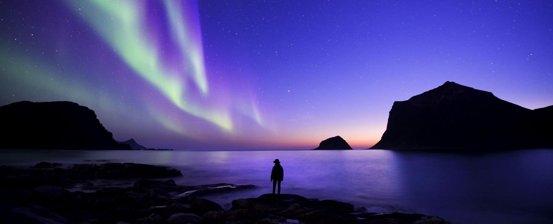 Voyage à la neige : Raquettes et aurores boréales sur l'île de senja