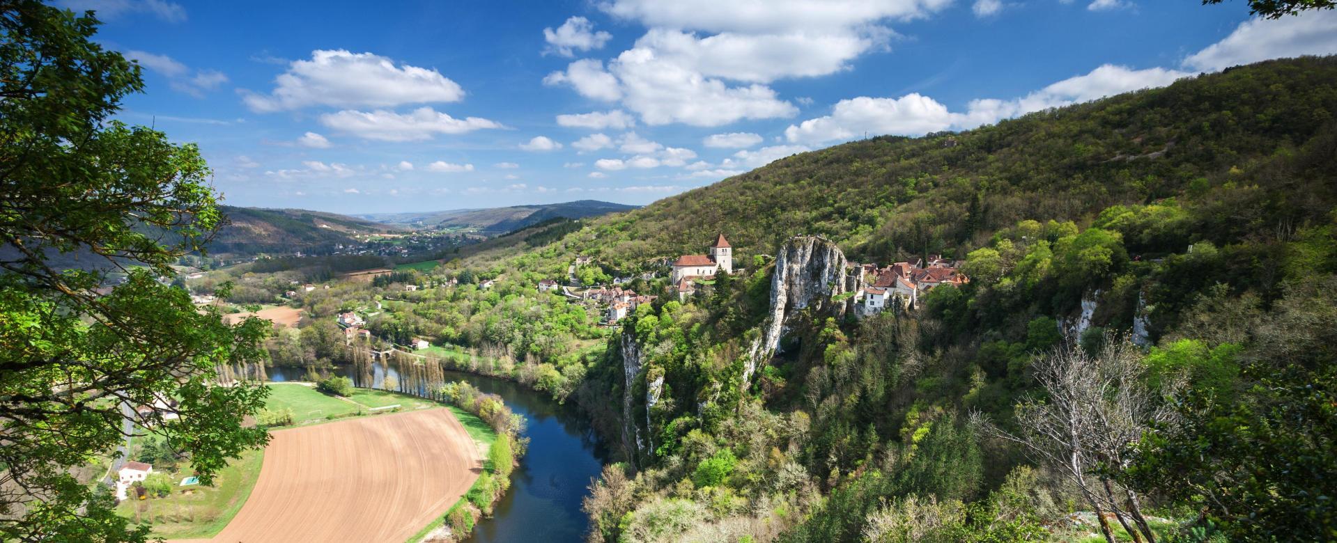 Voyage à pied : Conques-cahors par la vallée du c\'lé