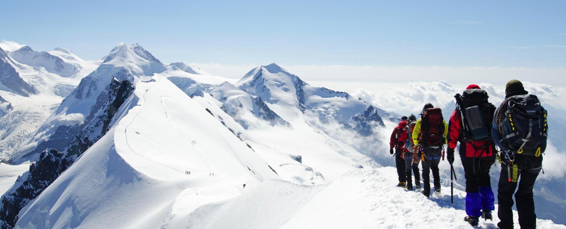 Voyage à pied : Les cimes du mont rose