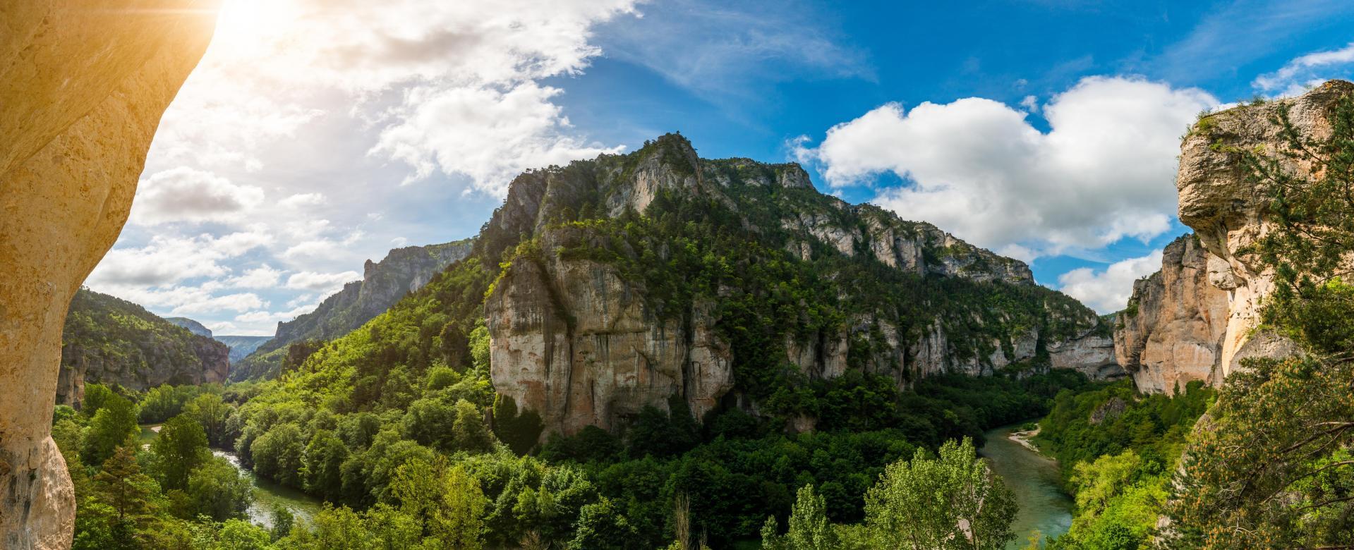 Voyage à pied France : Les gorges du tarn et sainte-enimie