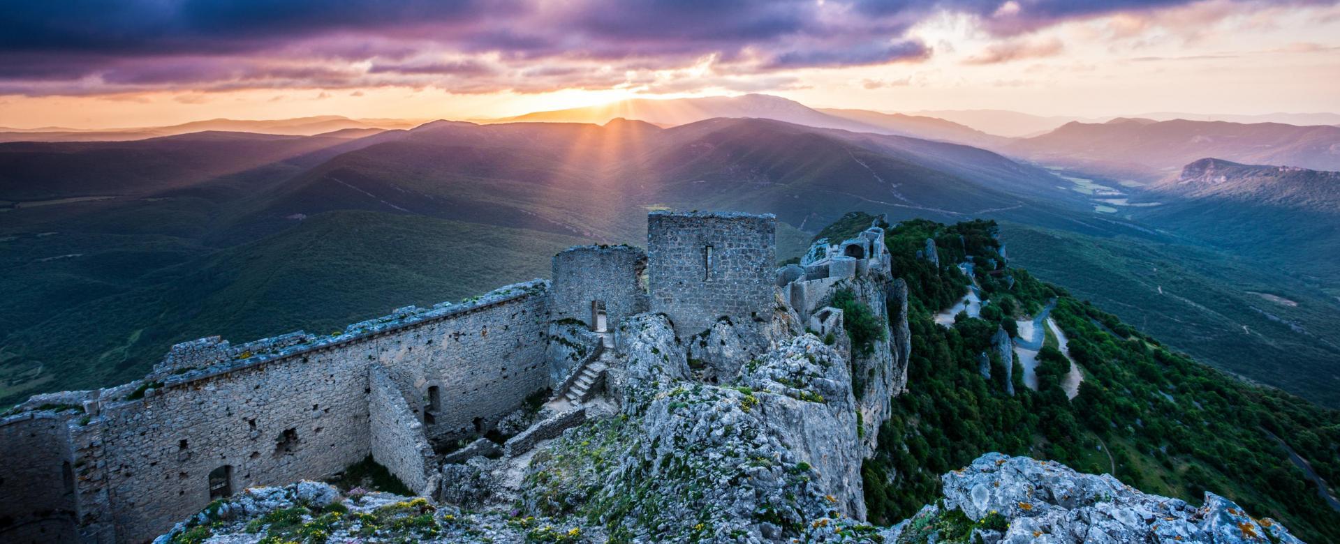 Voyage à pied : Pyrénéees : Châteaux cathares