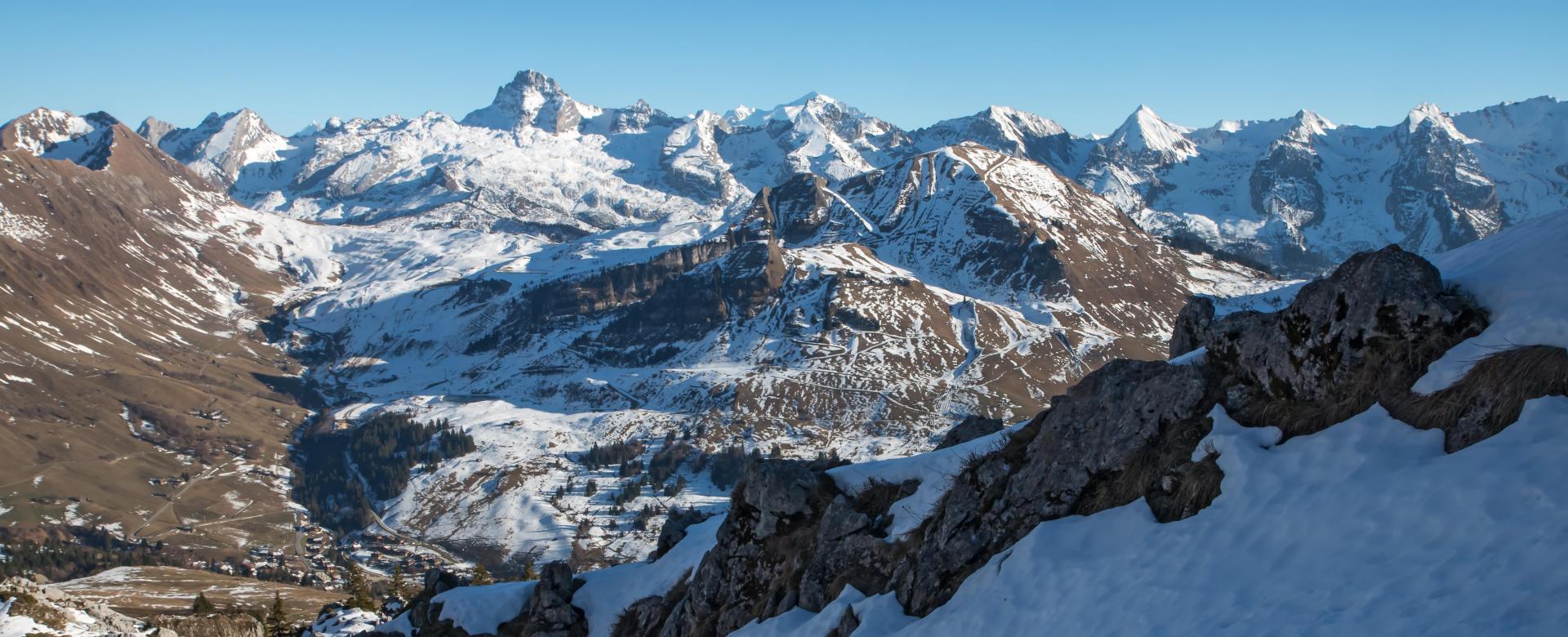 Voyage à la neige : Les aravis en traversée