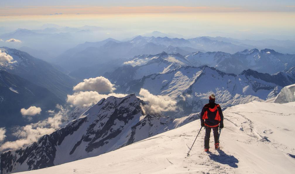 Image Gressoney, freerando au pied du mont-rose