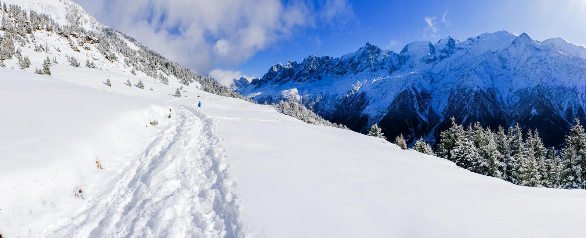 Voyage à la neige : Panoramas du mont-blanc