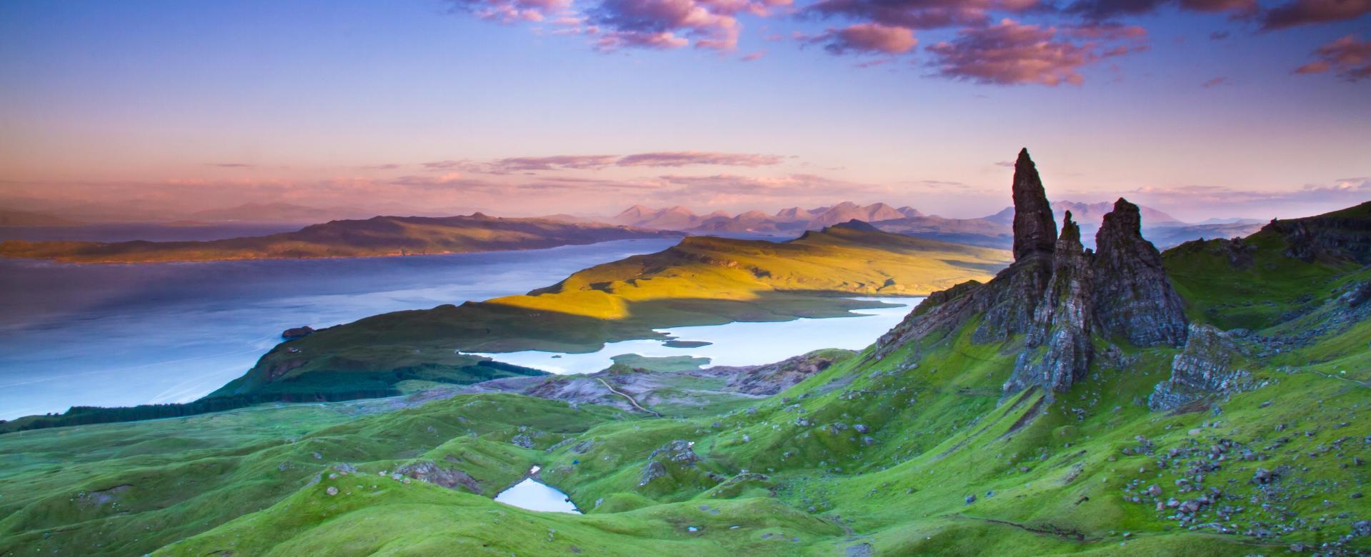 Voyage à pied : De l\'île de skye aux rives du loch ness