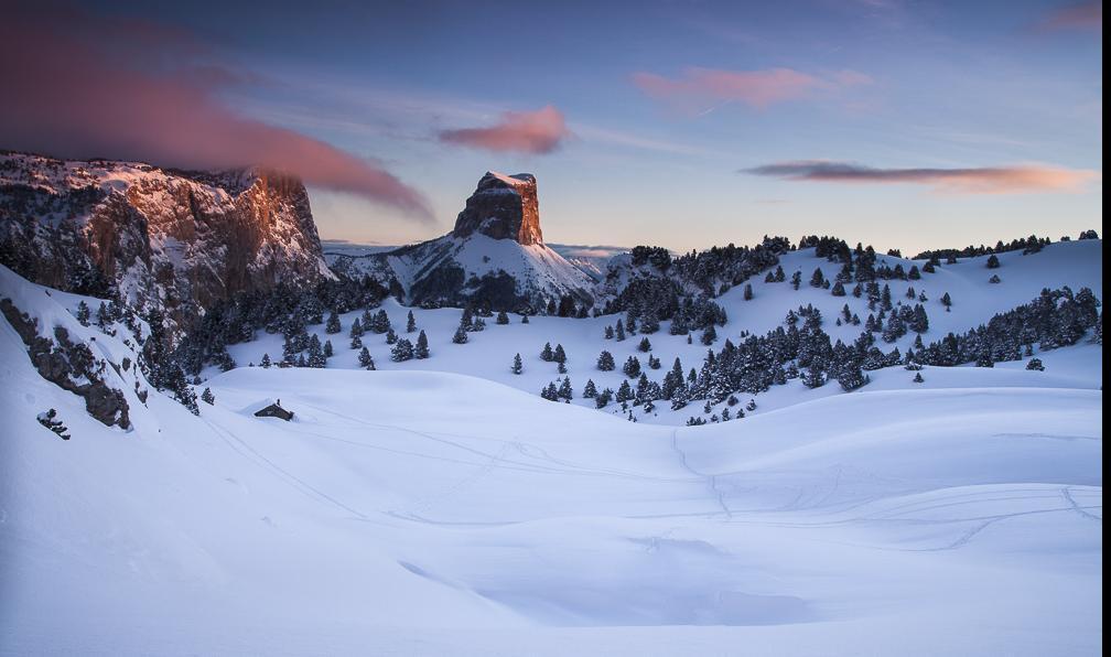 Image Traversée des hauts-plateaux du vercors en pulka