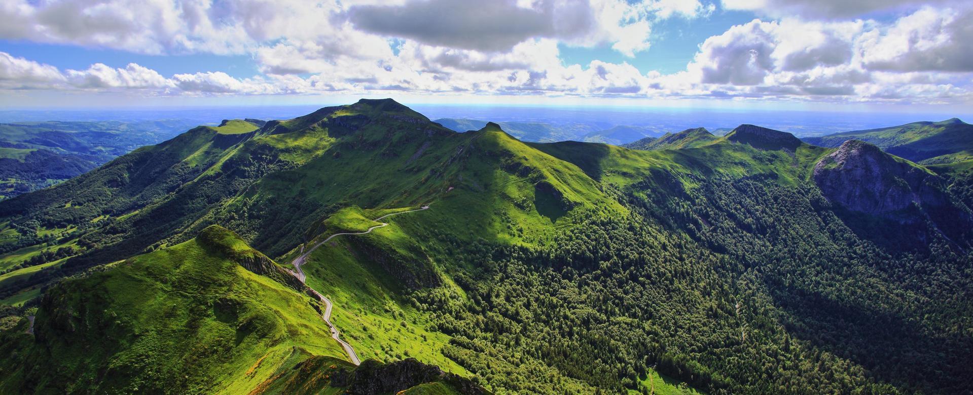 Voyage à pied France : Gtmc 1 : du puy-de-dôme au massif du sancy
