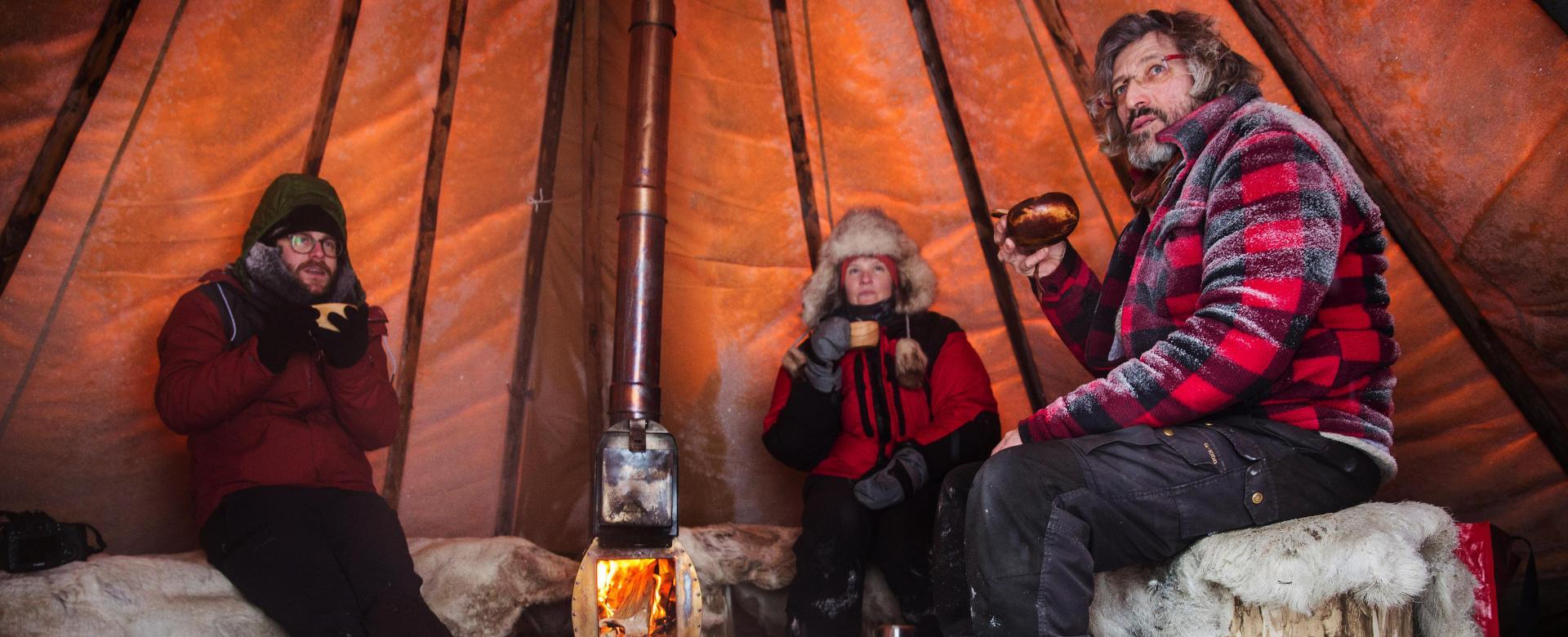 Voyage à pied : Noël en laponie suédoise