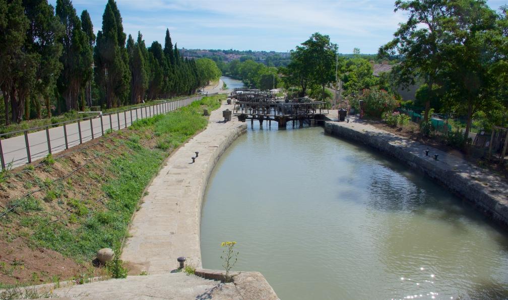 Image Le canal du midi à vélo de carcassonne à agde