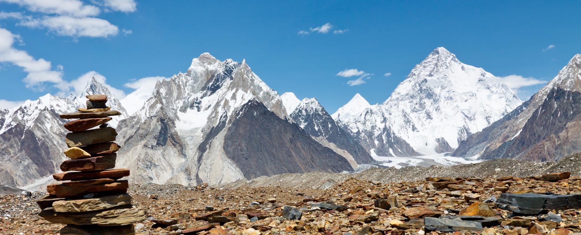 Voyage à pied : Camp de base du k2 (5135m) et gondogoro la (5585m)