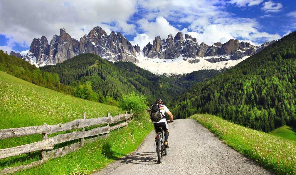 Image Vélo et rando dans les dolomites