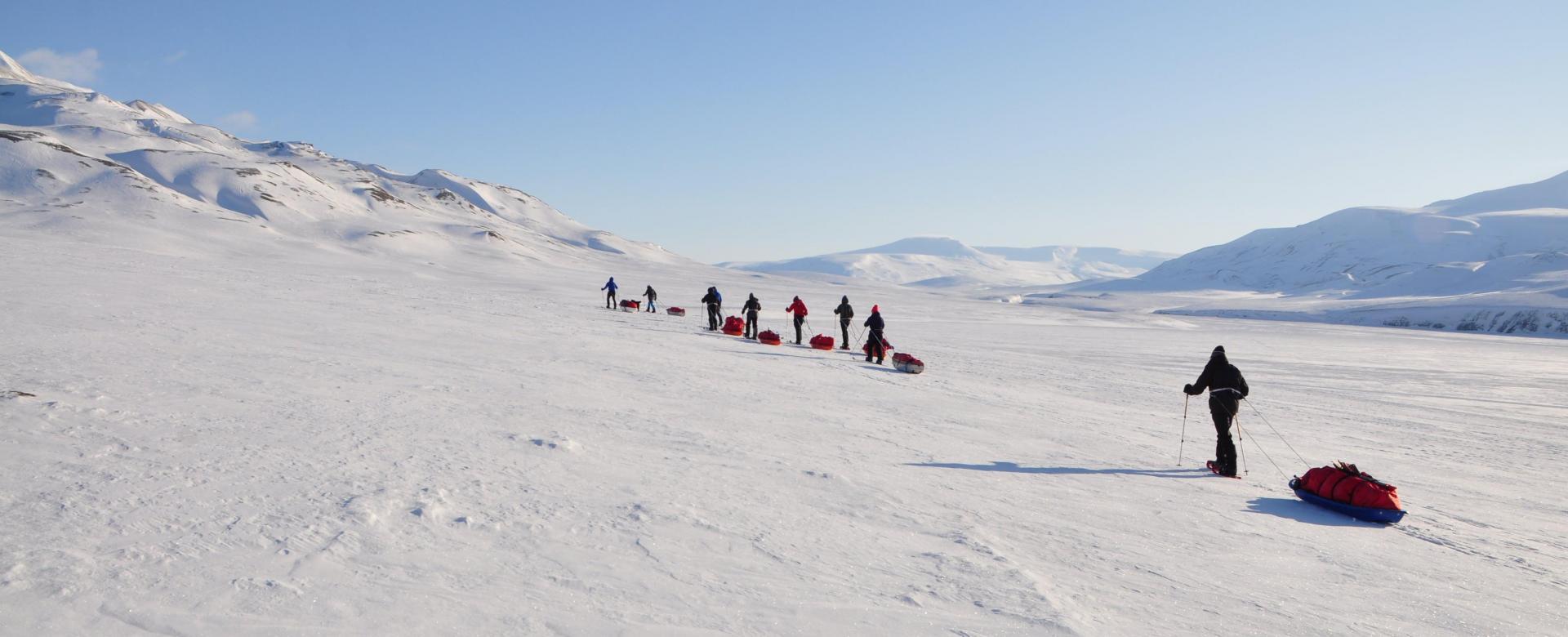 Voyage à pied : Norvège : Sur la banquise de tempelfjord