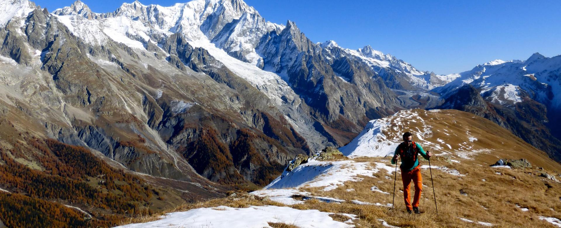 Voyage à pied : Tour du mont-blanc d'altitude en liberté