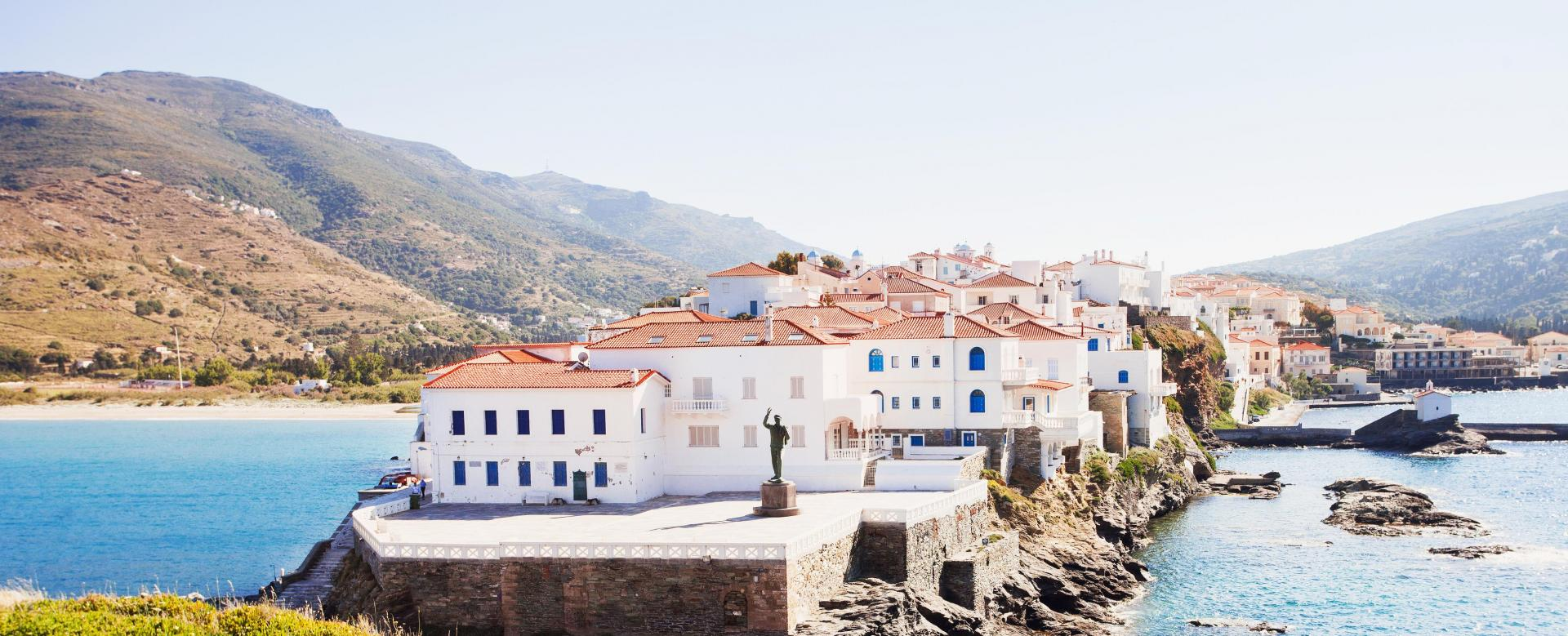 Voyage à pied Grèce : Cyclades : andros et tinos