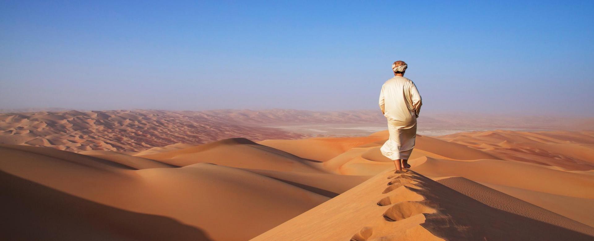 Voyage à pied : Djebel akhdar et océan de sables du rub al khali