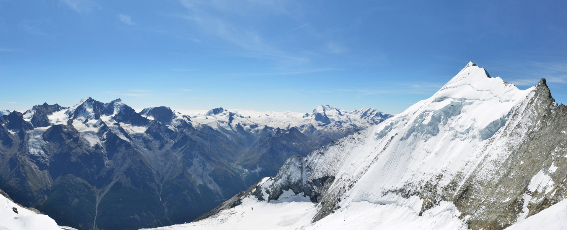 Voyage à pied : La couronne impériale : le bishorn (4153 m)