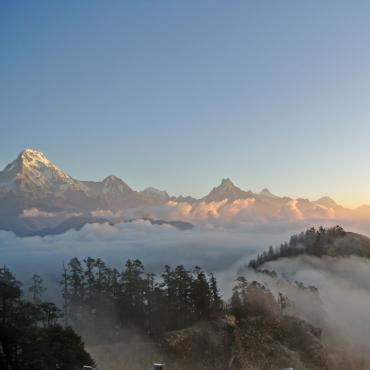 Kopra Ridge: balcon des Annapurnas et Dhaulagiris