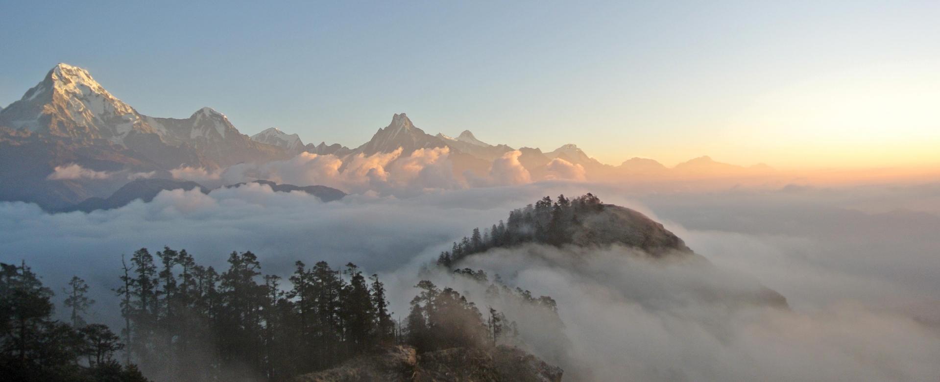 Voyage à pied : Kopra ridge : balcon des annapurnas et dhaulagiris