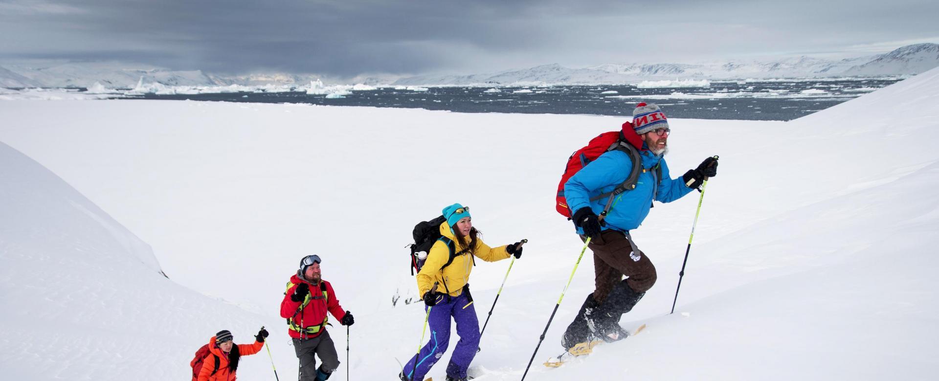 Voyage à la neige Islande : Raquettes dans les fjords de l'ouest