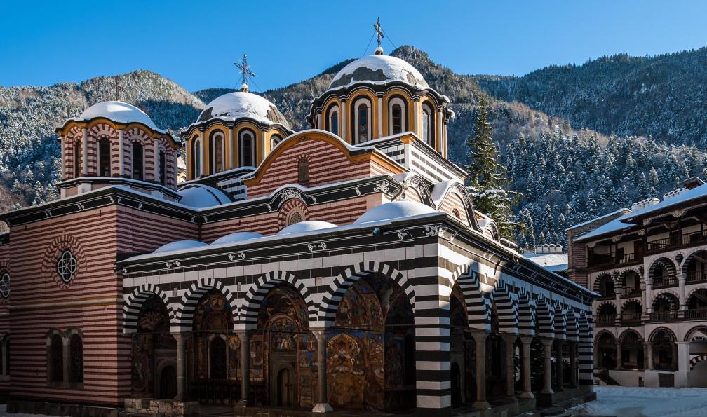 Image Le monastère de rila sous la neige