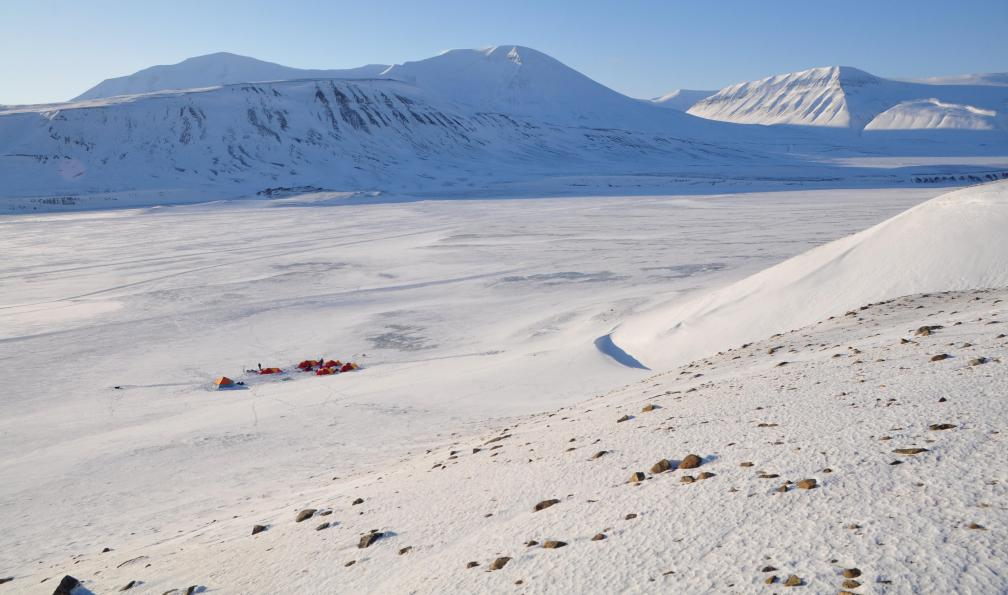 Image Objectif glacier von post à skis ou raquettes