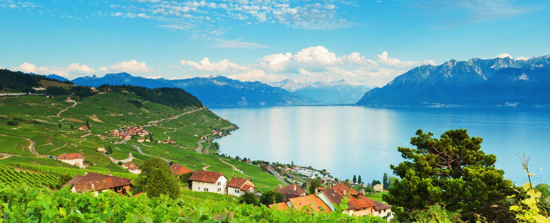 Voyage en véhicule Suisse : Les coteaux du léman à vélo