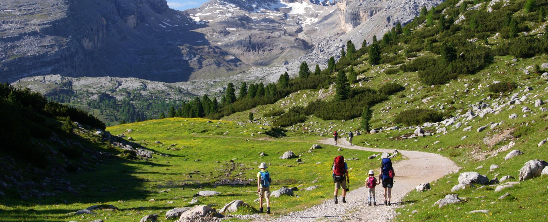 Voyage à pied Italie : Les petits montagnards des dolomites