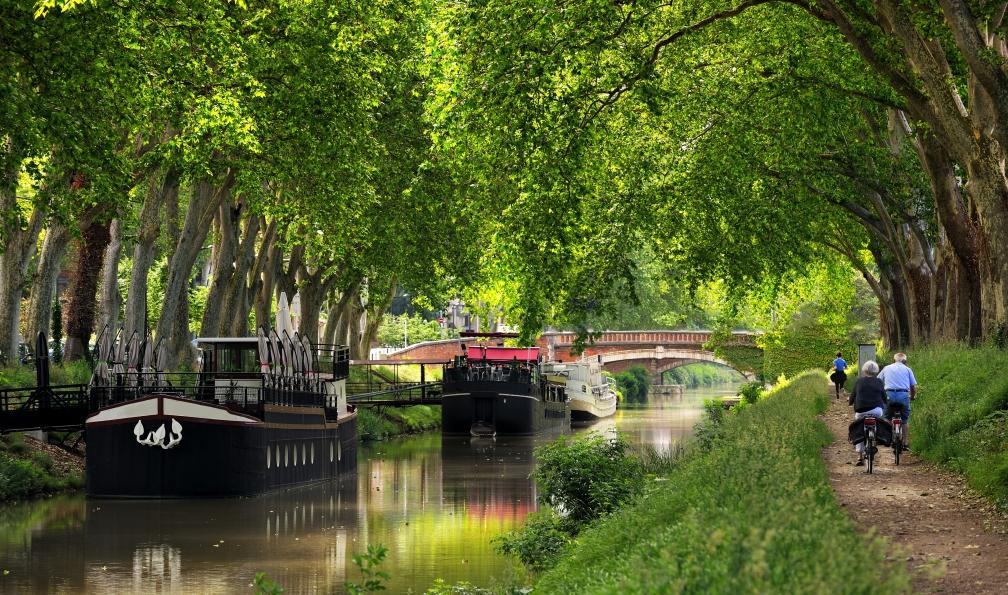 Image Le canal du midi à vélo