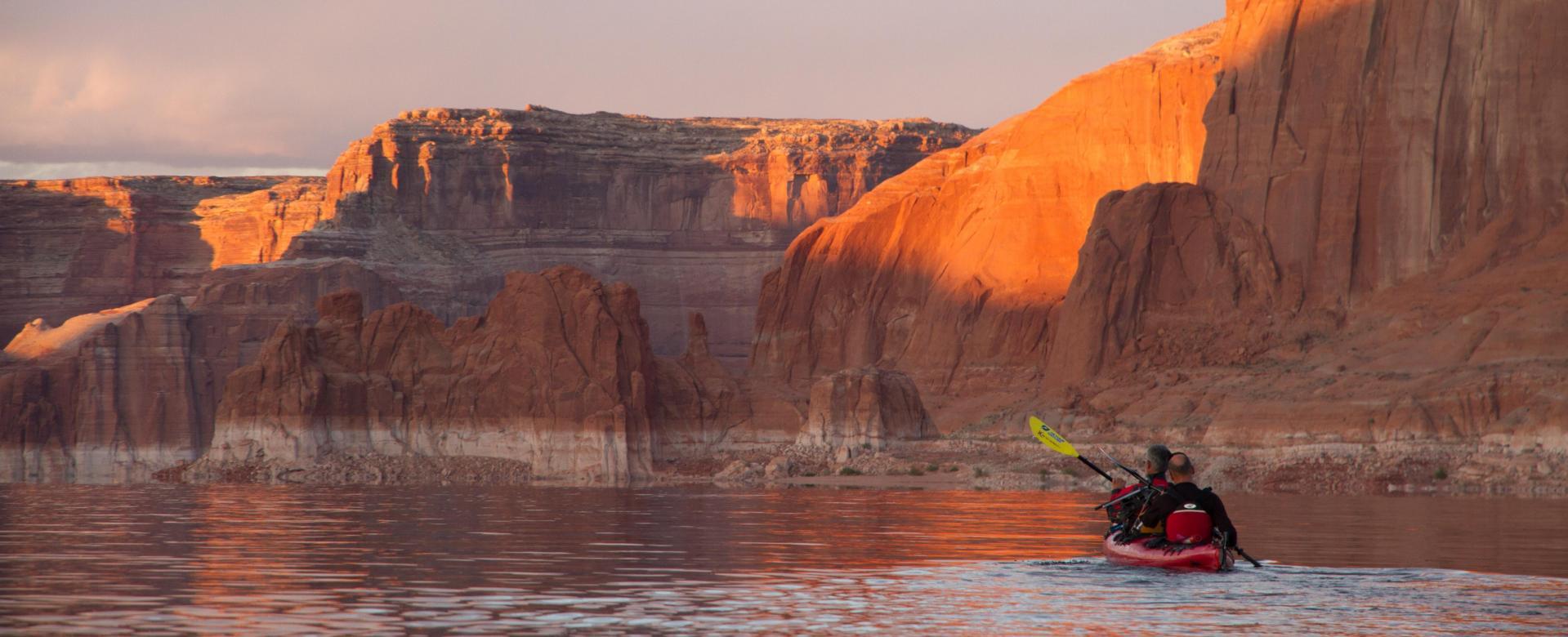 Voyage en kayak : Rando-kayak sur le lac powell