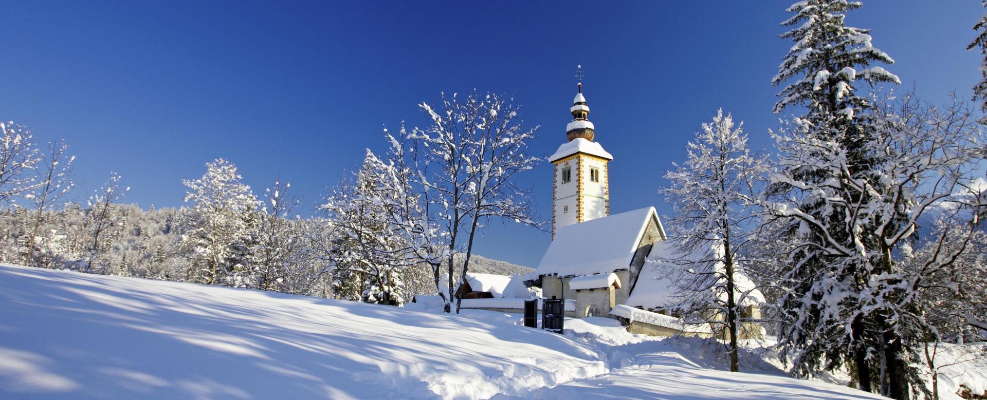 Voyage à la neige Slovénie : Le triglav sous la neige