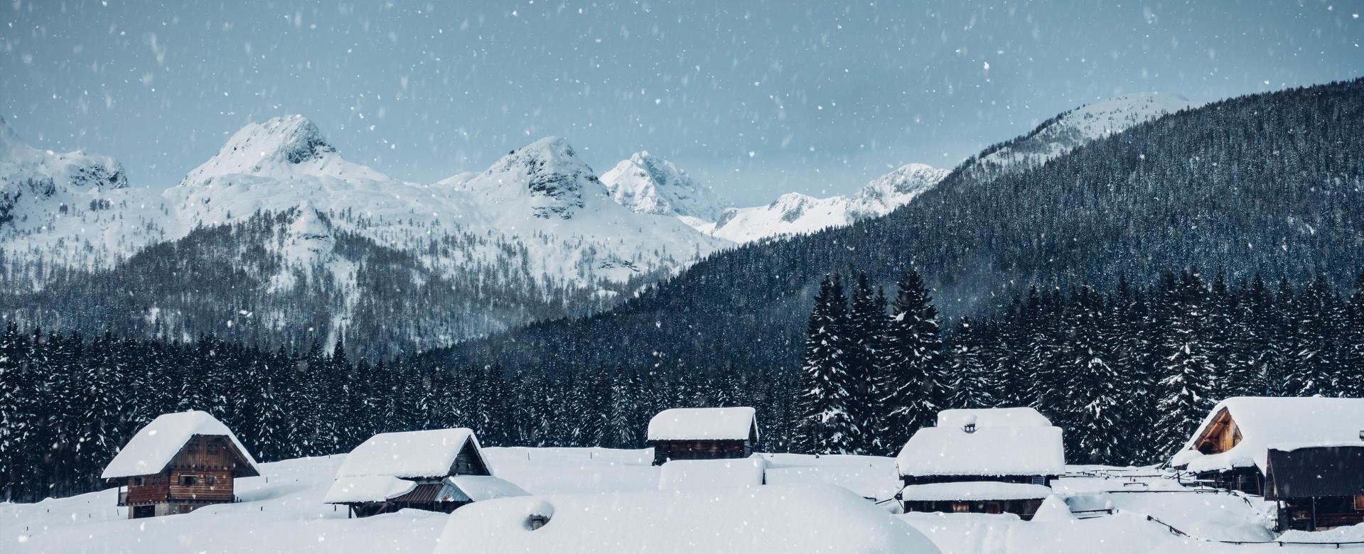 Voyage à la neige Slovénie : Réveillon au triglav sous la neige