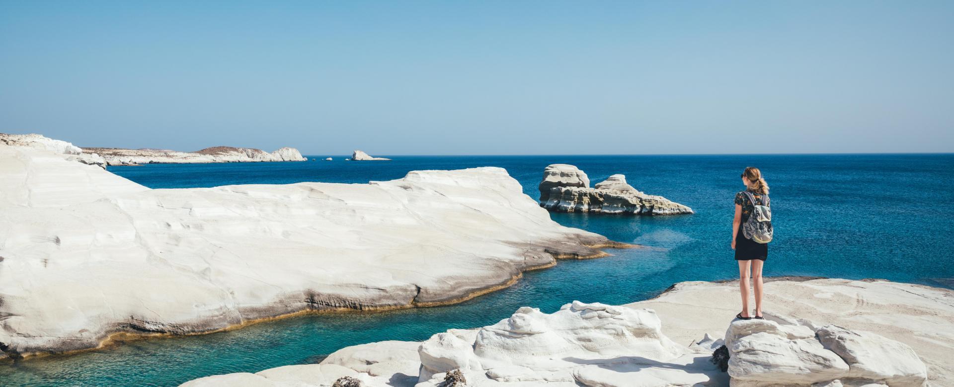 Voyage à pied : Cyclades : milos et kimolos en famille