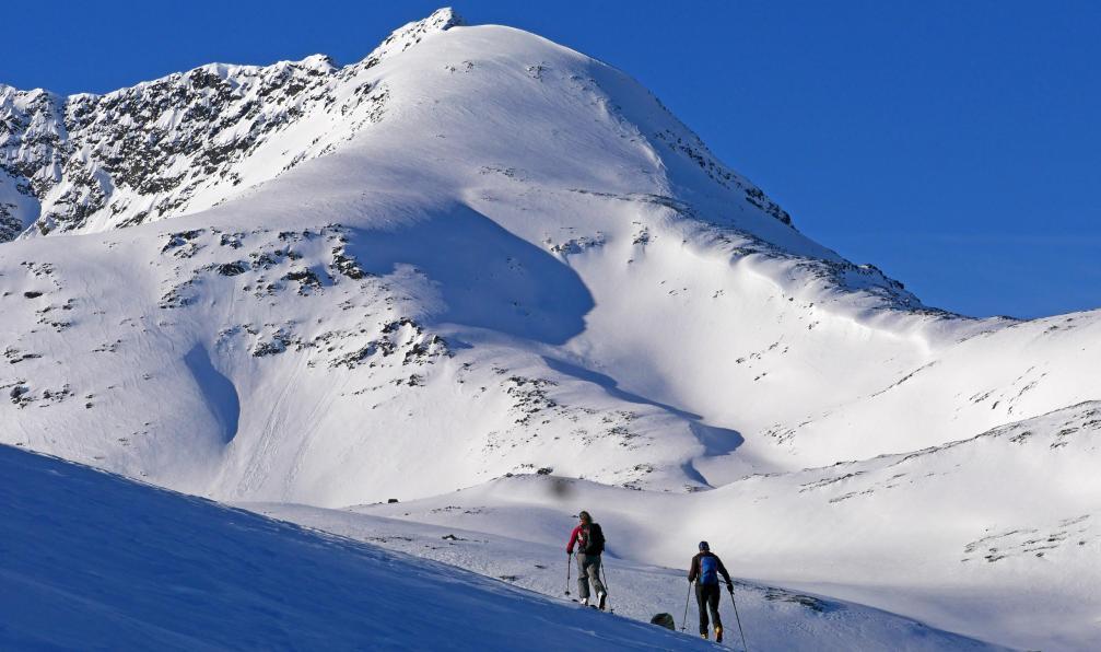 Image Ski et aurores boréales dans les alpes de lyngen