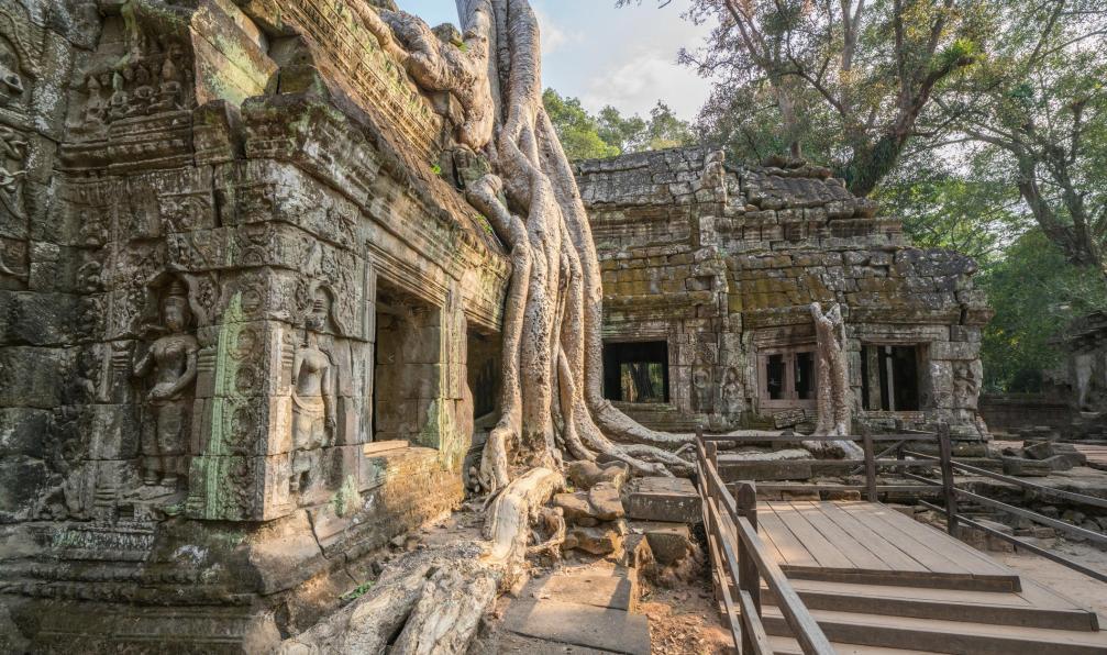 Image Angkor et fleuve mékong
