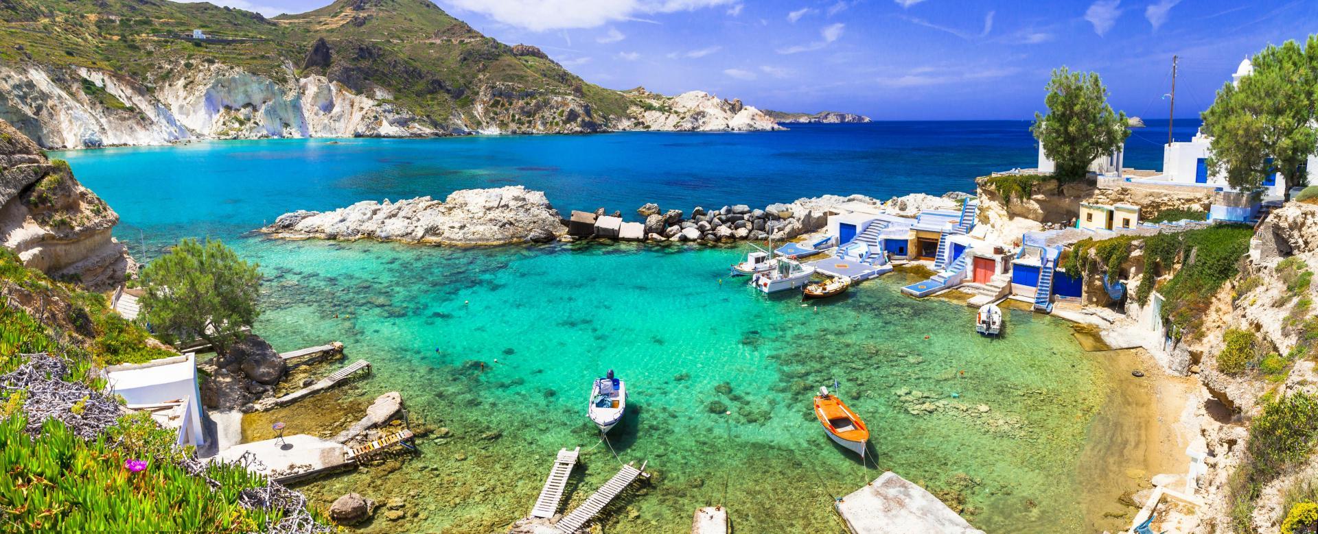 Voyage à pied : Idylliques cyclades : sifnos, kimolos et milos