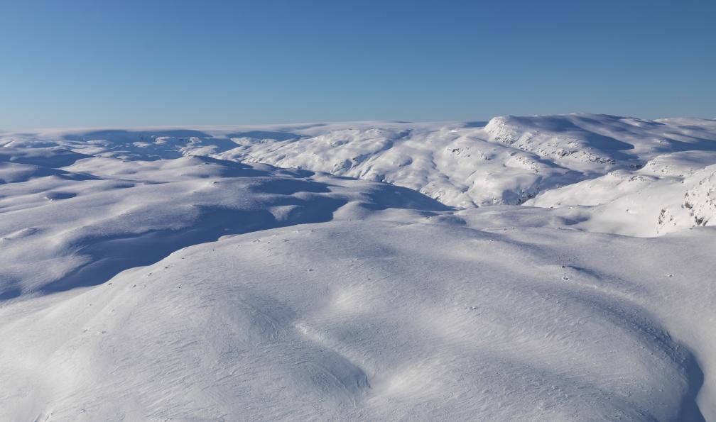 Image Raquette et ski nordique entre fjords et montagnes