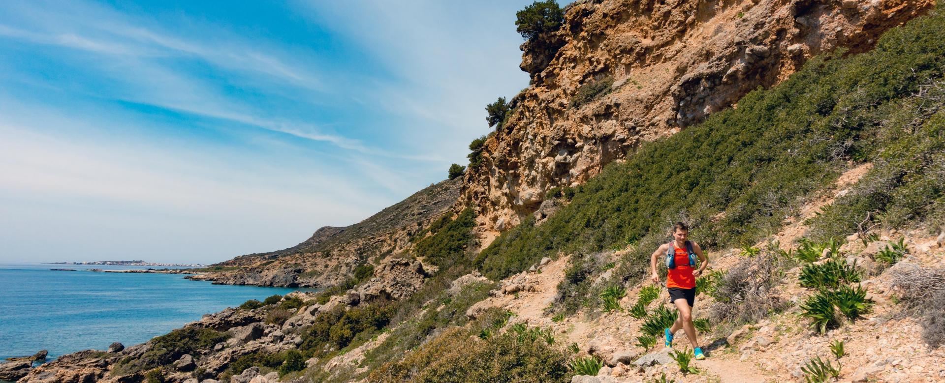 Voyage à pied : Trail en crète : les sentiers de la côte sud