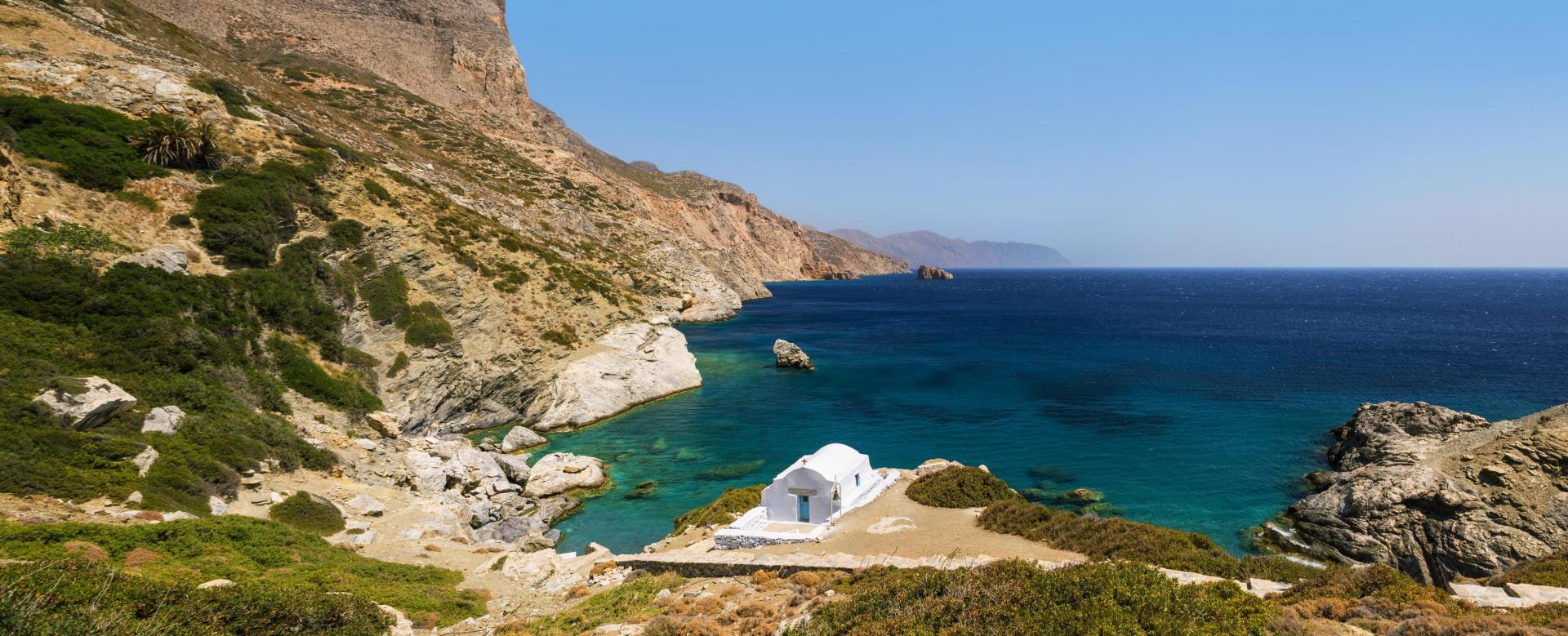 Voyage à pied : Les cyclades, naxos et amorgos