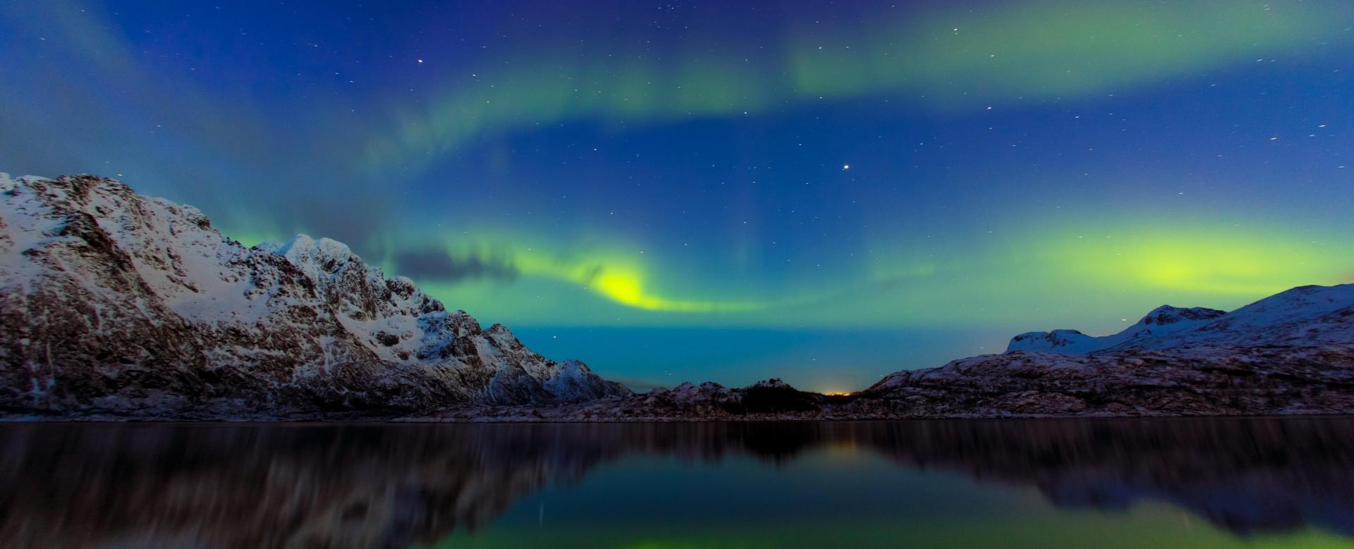 Voyage à la neige Norvège : Raquettes et aurores boréales en lofoten