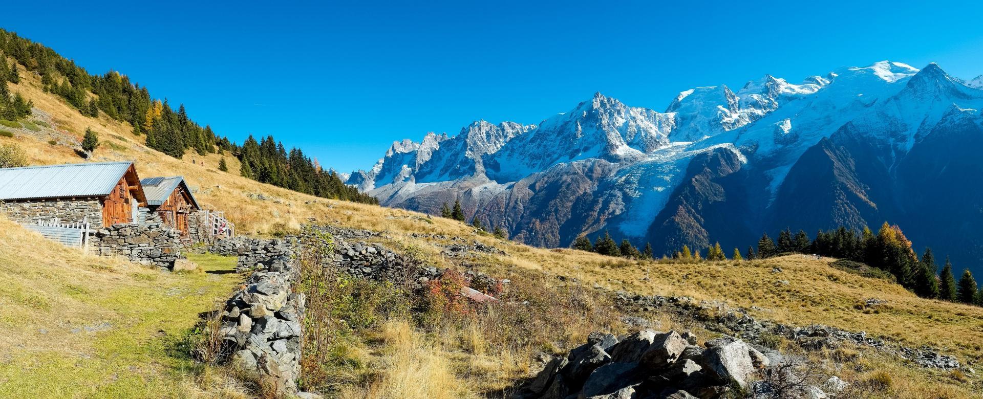 Voyage à pied : Les panoramas du mont blanc