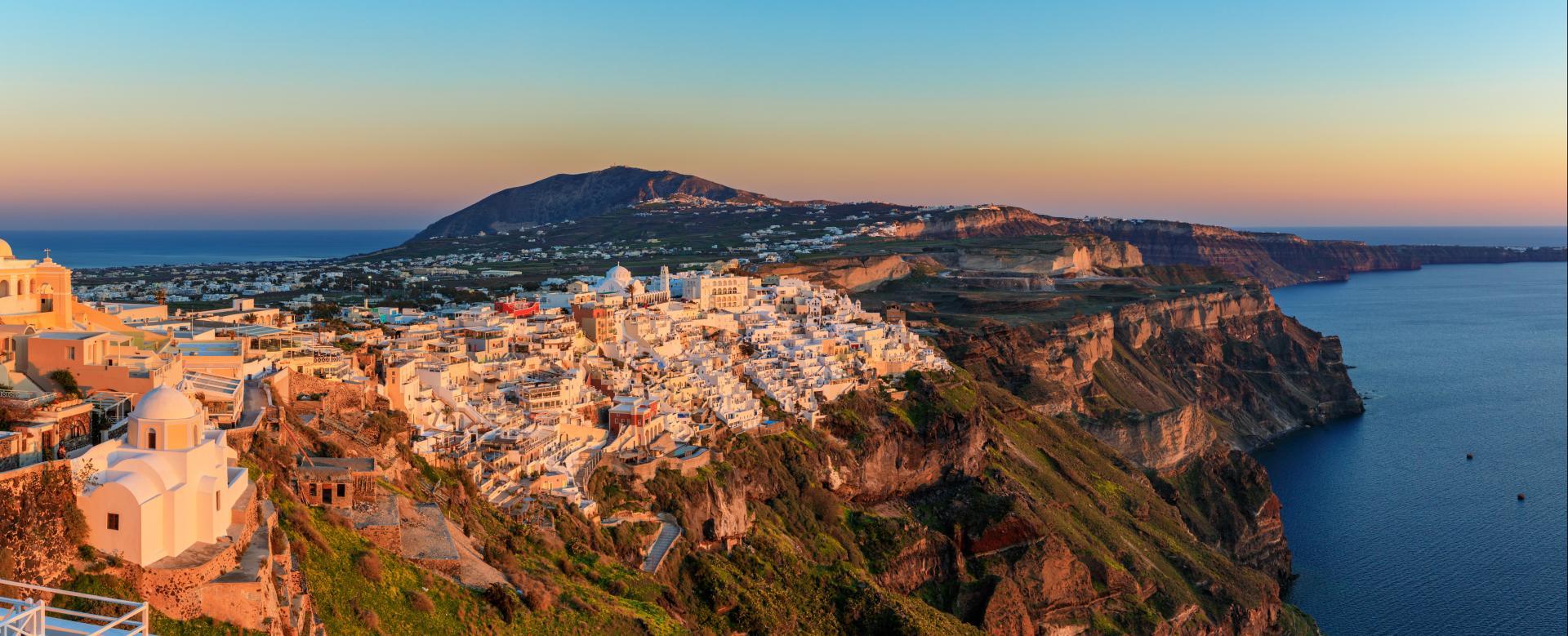 Voyage à pied : Les Cyclades : Les couleurs de santorin