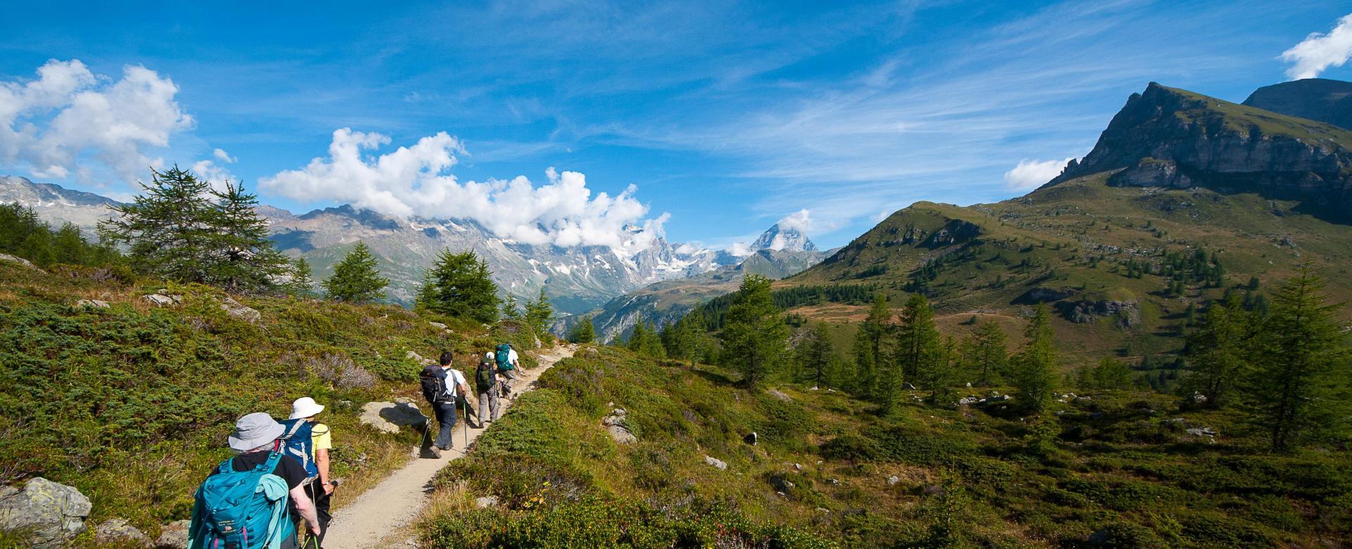 Voyage à pied : Alpes italiennes et cervin
