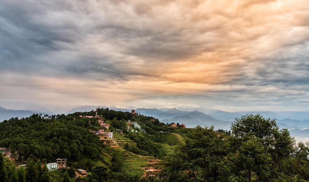 Image Balcon des annapurnas et vallée de kathmandou
