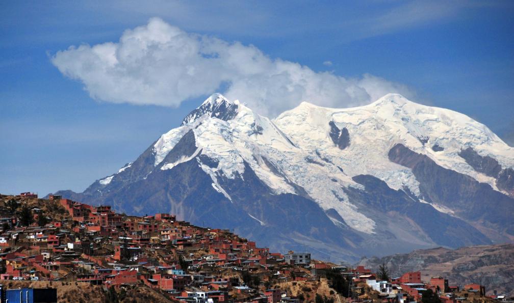 Image Illimani (6439 m) et sajama (6542 m)